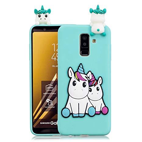 cover samsung j6 2018 unicorno